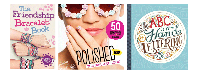 The Friendship Bracelet Book Polished The Nail Art Book The ABCs of Hand Lettering