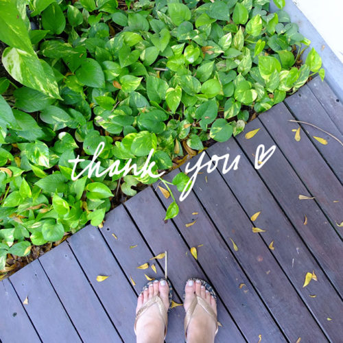 feet and leaves in bali
