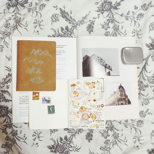 Flat lay of notebooks