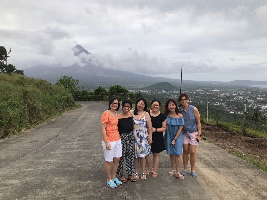 Mayon in the distance