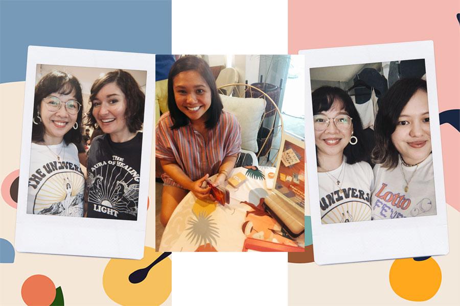 With Jenn, Chinggay, and Sam at Aura sa Artesania