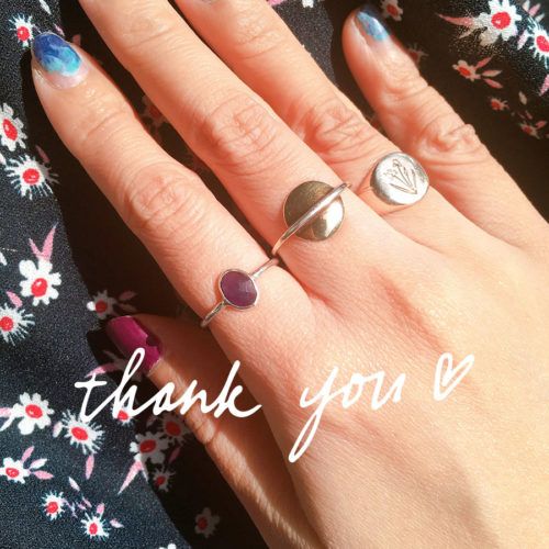Wearing Dandy Ona and Love You Long Time rings