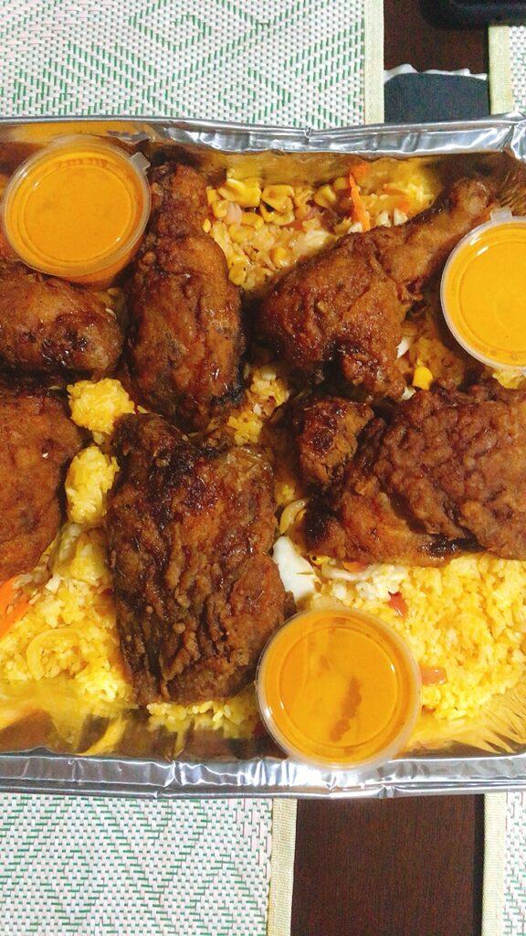 Sabong Honey Bagoong Fried Chicken With Kare-Kare Sauce