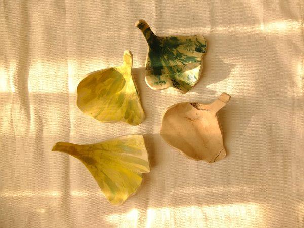 Ginkgo leaf jewelry dishes