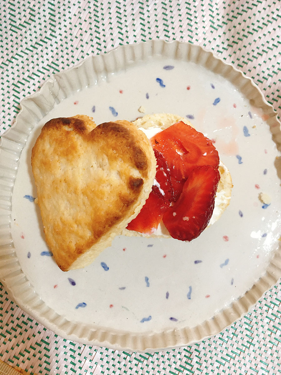 Heart-shaped scones