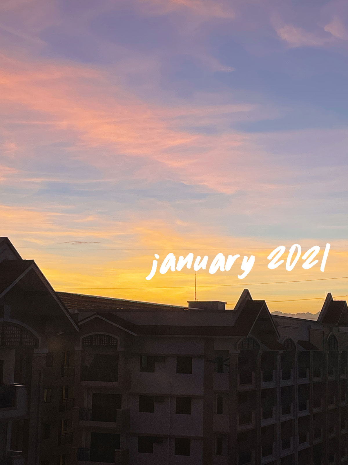 January 2021 pastel sunset